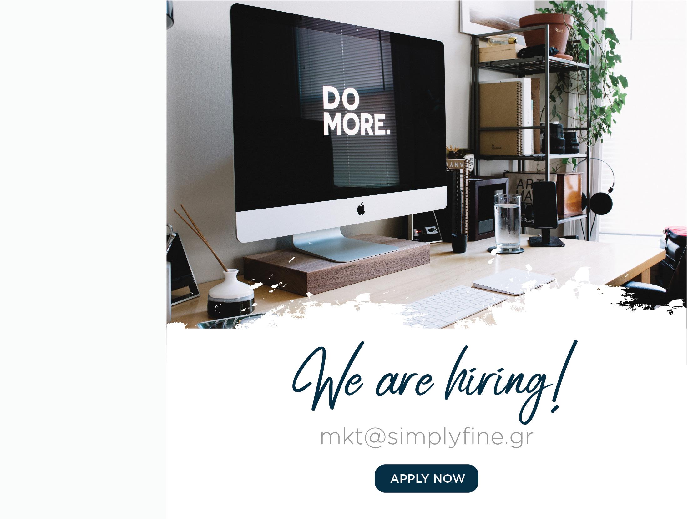 we are hiring - Simplyfine